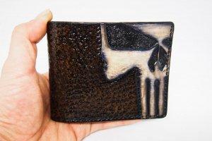 Шкіряний гаманець з монетницьою каратель - ІНШІ РОБОТИ