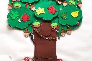 Робота Розвиваюча іграшка дерево з фетру. Вчимо, рахунок, кольори