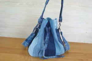 Джинсова сумка-торбинка