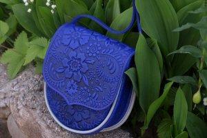 Робота сумочка шкіряна- Софійка яскраво синя