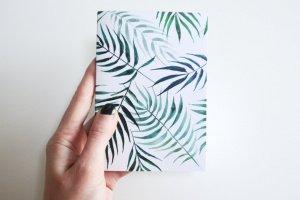 """Робота Блокнот з зеленими сторінками """"Пальми"""""""