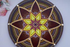 тарілка декоративна Мандала - ІНШІ РОБОТИ