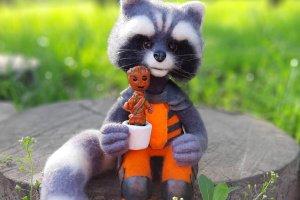 Інтерьерная іграшка Єнот Ракета і Грут . - ІНШІ РОБОТИ