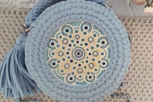 Сумка блакитного кольору - Опис