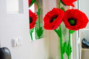 Робота Ростові квіти маки стійка на 3 квітки маку