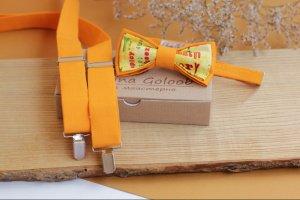 Робота  Комплект Підтяжки і Метелик жовто-помаранчевий