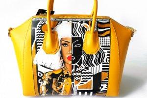Дизайнерська сумка з натуральної шкіри з ручним розписом - ІНШІ РОБОТИ