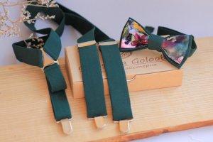 Робота Комплект підтяжки і метелик темно-зеленого кольору