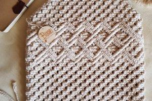 макраме-сумка на бамбукових полукільцях - ІНШІ РОБОТИ