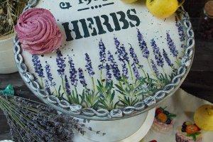 Підставка під торт, тістечко, фрукти в стилі прованс - ІНШІ РОБОТИ