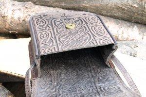 """сумка шкіряна """"Вязь коричнева - Опис"""
