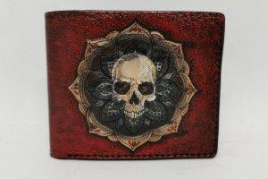 Шкіряний червоний гаманець з черепом - ІНШІ РОБОТИ