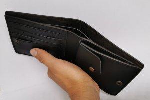 Шкіряний чоловічий гаманець з індіанцем - Опис