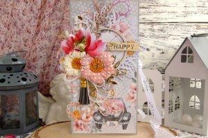 """Весільна листівка з конвертом всередині """"happy"""""""