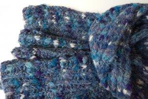 Темно-блакитний шарф з альпаки - ІНШІ РОБОТИ