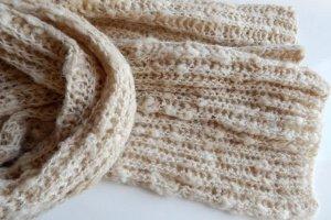 Робота Бежевий шарф з альпаки