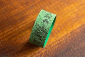 Робота Шкіряний браслет зелений