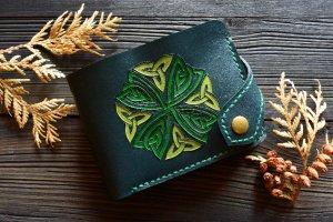 Робота Портмоне з кельтським вузлом (9 кишень для карток)
