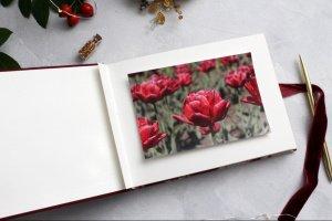 Червоний новорічний альбом з оленями - Опис