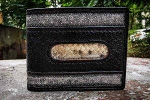 Шкіряний строгий шкіряний гаманець