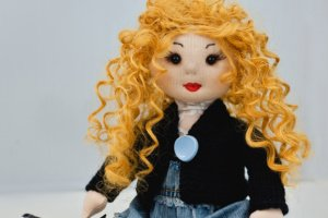 Лялька ручної роботи з волоссям - ІНШІ РОБОТИ