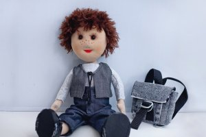 Робота Лялька хлопчик з рюкзаком на заказ