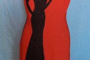 Ідеальне коктейльне терракотовое плаття вишите вручну - Опис