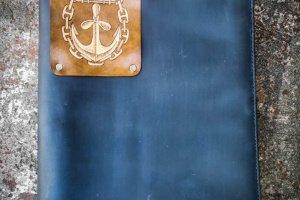 Робота Шкіряна папка для морських документів на блискавці