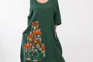 Сукня з вишивкою - Опис