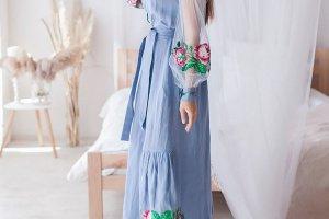 Сукня з льону - Опис