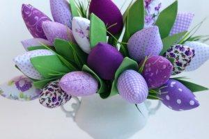 Робота Букет текстильних тюльпанів бузковий
