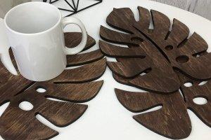 Робота Комплект дерев'яних підставок під гаряче «Лист»