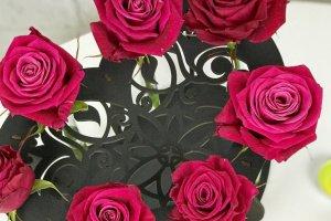 Дерев`яна підставка для квітів зі скляними колбами - Опис