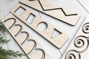 Набір трафаретів з дерева для творчості та раннього розвитку - Опис
