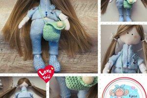 Tilda with a mint bag - Лялька ручної роботи - ІНШІ РОБОТИ