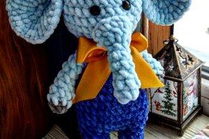 Слоненя в'язане. подарунок для дитини - ІНШІ РОБОТИ