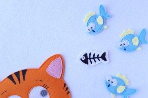 Хрестики-нулики гра для дітей з фетру, іграшки з фетру - Опис