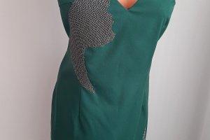 Плаття - Місячна соната, вечірня сукня з ручною вишивкою - Опис