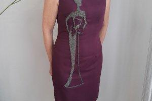 Робота Сукня з аплікаційною ручною вишивкою бісером, ручна вишивка