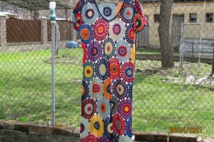 Ажурна в'язане плаття - Опис