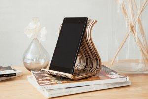 Дерев'яна підставка для планшета •Sign• Zebrawood white  - ІНШІ РОБОТИ