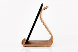 Дерев'яна підставка для планшета •Sign• Zebrawood lightbrown - Опис