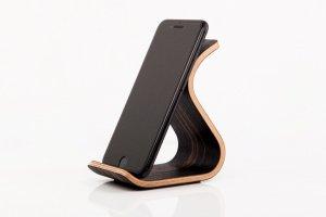 Дерев'яна підставка для телефону •Sign• Ebony dark - Опис