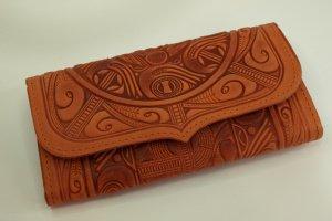 Робота гаманець Трипілля з рижої шкіри