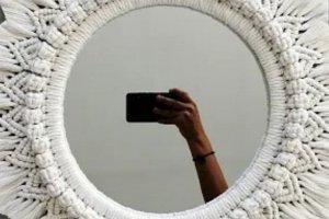 Панно макраме, рама для зеркала, фото - ДРУГИЕ РАБОТЫ