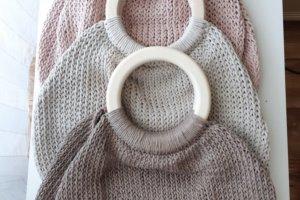 Робота Сумочка-авоська на дерев'яних кільцях