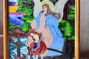 Робота Витражная картина Ангел и дети