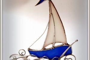 Статуетка Вітраж Парусник - Опис