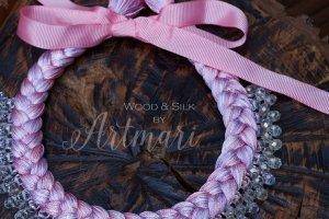 Шелковое колье-коса Pink Lilac Silk - ІНШІ РОБОТИ