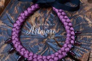 Робота Шелковое колье-коса Violet Silk